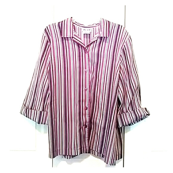0abc66d4df164e Blair Tops | Womens Purple Striped Button Up Blouse | Poshmark
